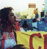 Manifestation de personnes transgenres contre des opérations policières de nettoyage social au Chiapas